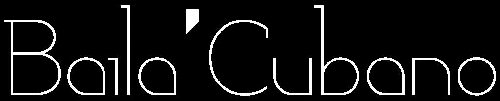 Logo Baila Cubano blanc